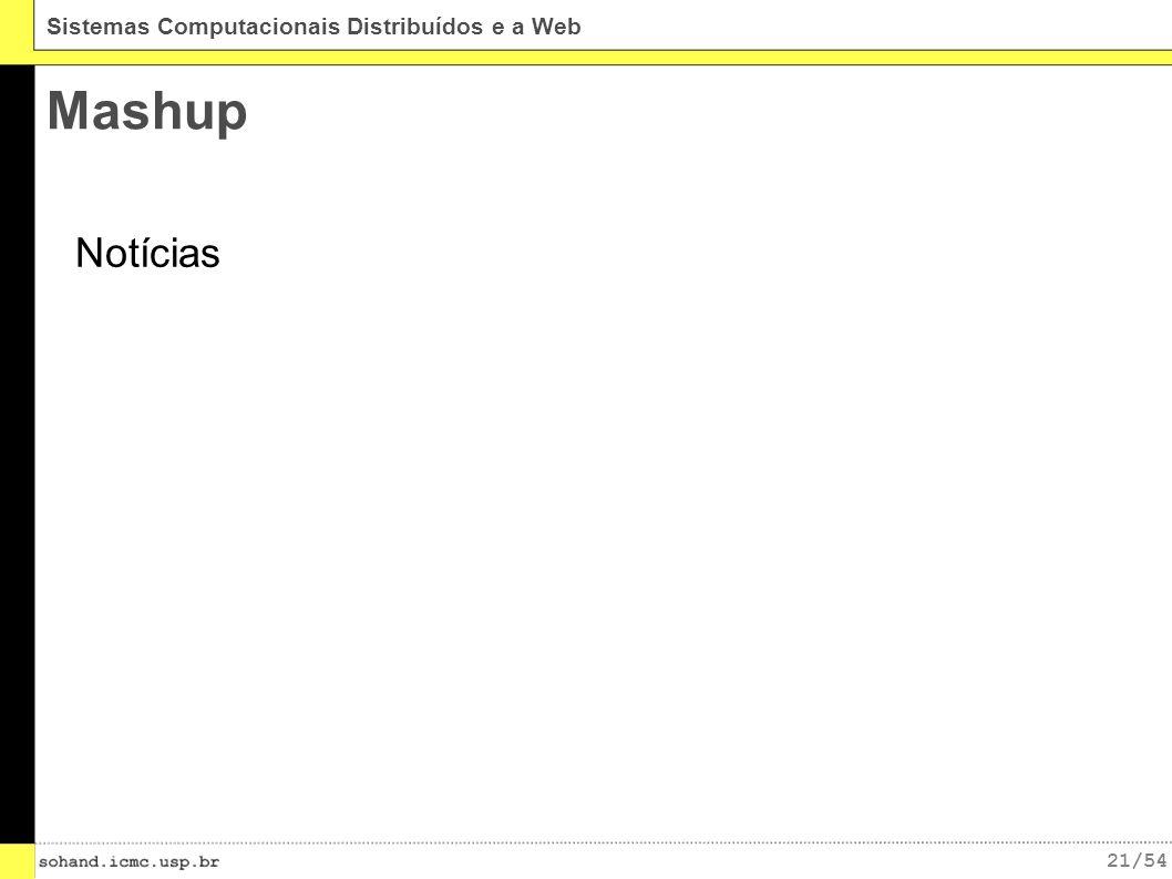 21/54 Sistemas Computacionais Distribuídos e a Web Mashup Notícias