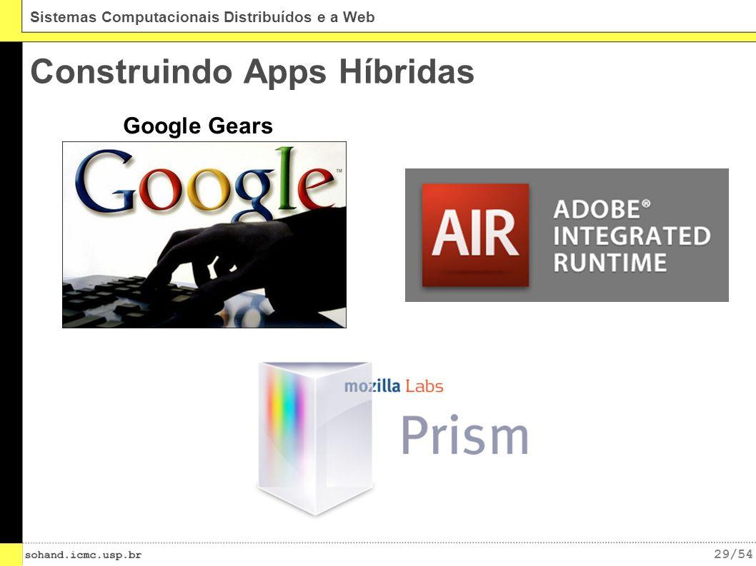 29/54 Sistemas Computacionais Distribuídos e a Web Construindo Apps Híbridas Google Gears