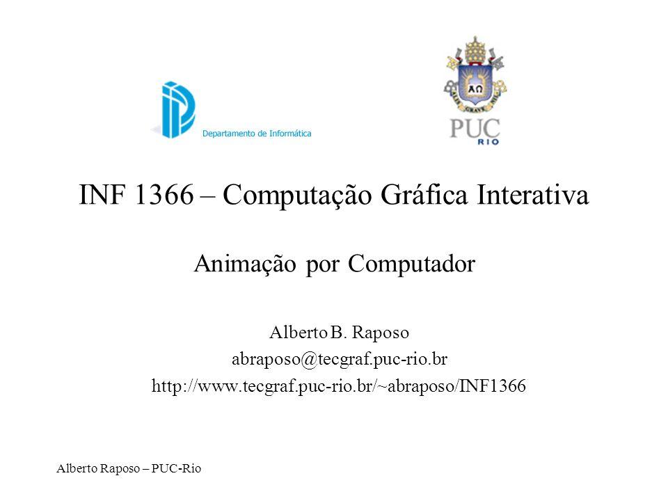 Alberto Raposo – PUC-Rio INF 1366 – Computação Gráfica Interativa Animação por Computador Alberto B. Raposo abraposo@tecgraf.puc-rio.br http://www.tec