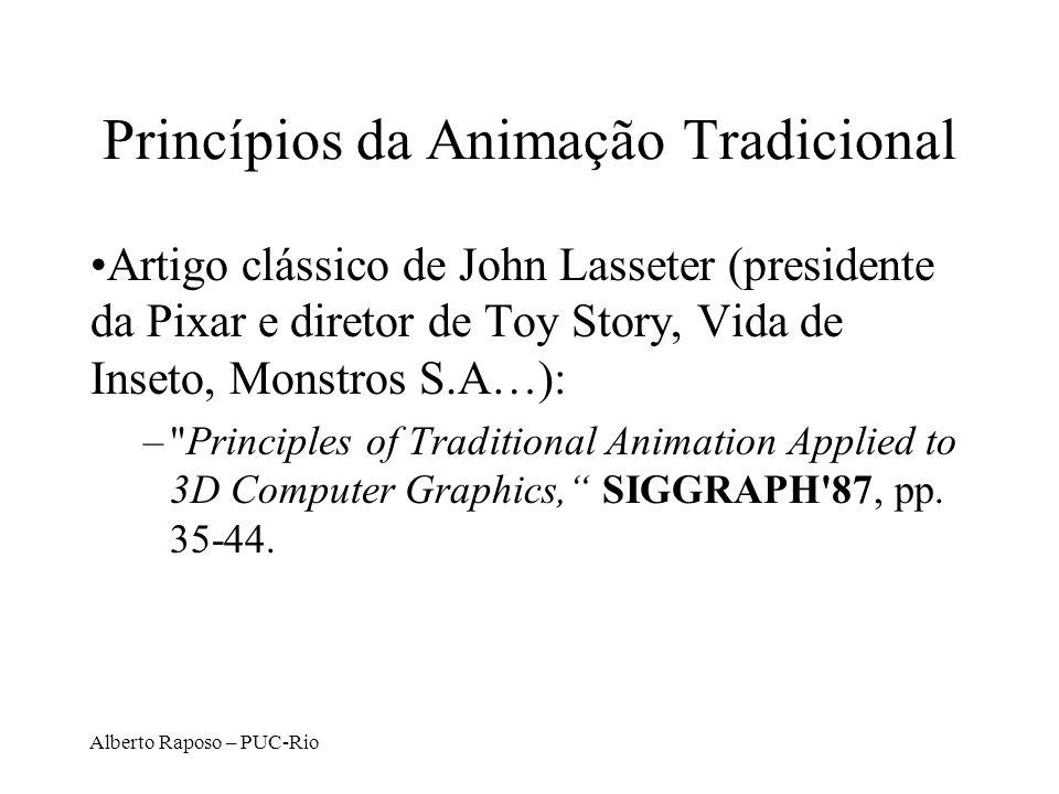 Alberto Raposo – PUC-Rio Princípios da Animação Tradicional Artigo clássico de John Lasseter (presidente da Pixar e diretor de Toy Story, Vida de Inse