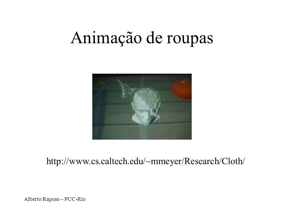 Alberto Raposo – PUC-Rio Animação de roupas http://www.cs.caltech.edu/~mmeyer/Research/Cloth/