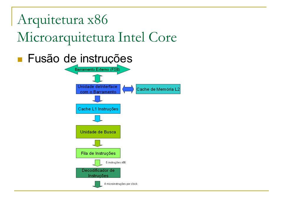 Arquitetura x86 Microarquitetura Intel Core Fusão de instruções