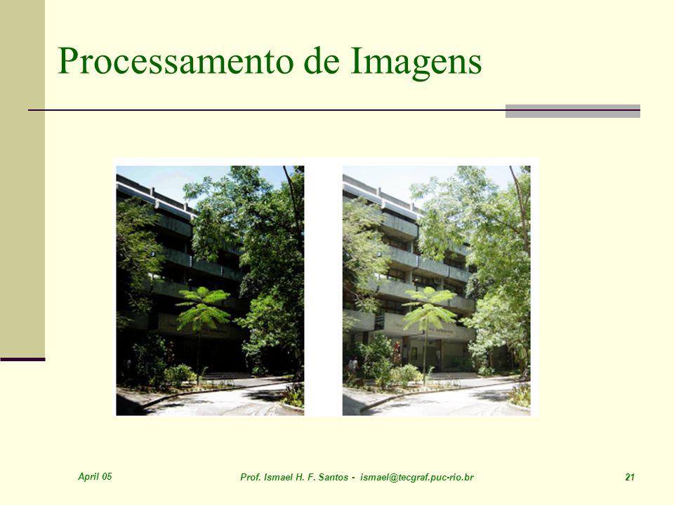 April 05 Prof. Ismael H. F. Santos - ismael@tecgraf.puc-rio.br 21 Processamento de Imagens