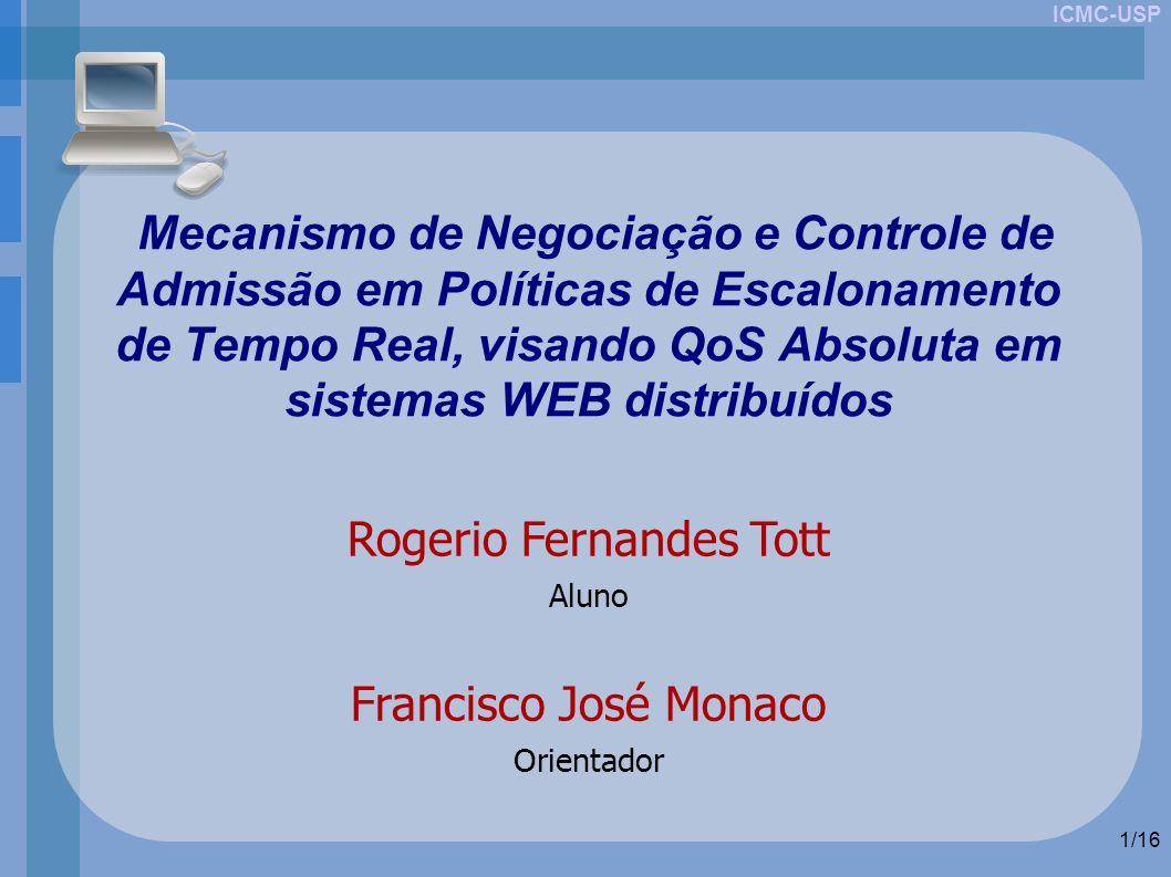 ICMC-USP 1/16 Mecanismo de Negociação e Controle de Admissão em Políticas de Escalonamento de Tempo Real, visando QoS Absoluta em sistemas WEB distrib