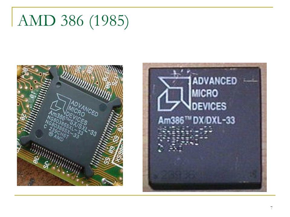 8 Evolução 1986 Intel cancela o acordo e recusou-se a revelar detalhes técnicos de sua arquitetura i386 Com a popularização dos clones do IBM-PC, a Intel conseguiu fazer o que queria com o mercado, e não mais o que a IBM queria.