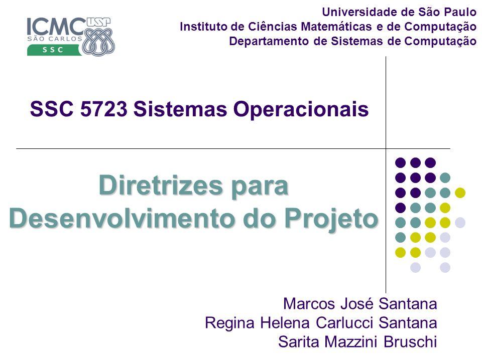 Diretrizes para Desenvolvimento do Projeto Universidade de São Paulo Instituto de Ciências Matemáticas e de Computação Departamento de Sistemas de Com