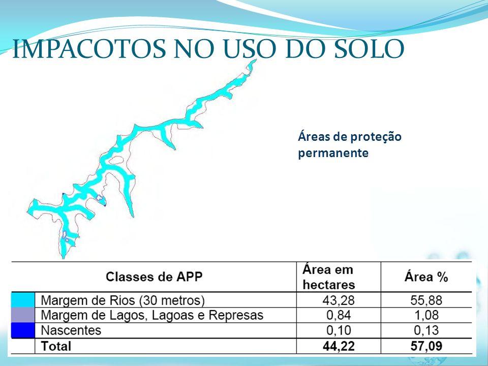 Áreas de proteção permanente IMPACOTOS NO USO DO SOLO