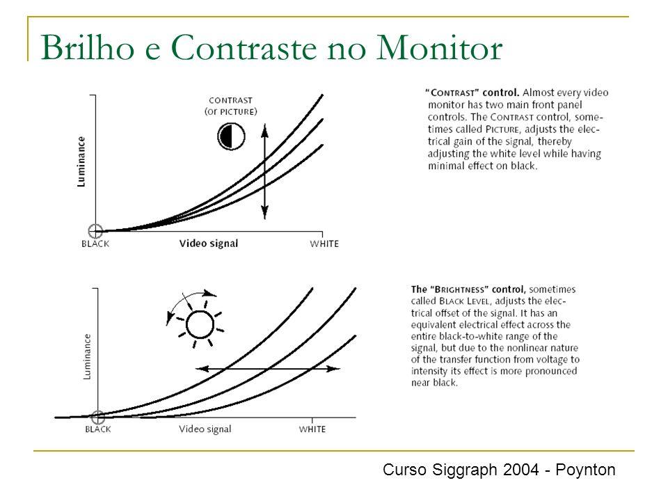 Brilho e Contraste no Monitor Curso Siggraph 2004 - Poynton