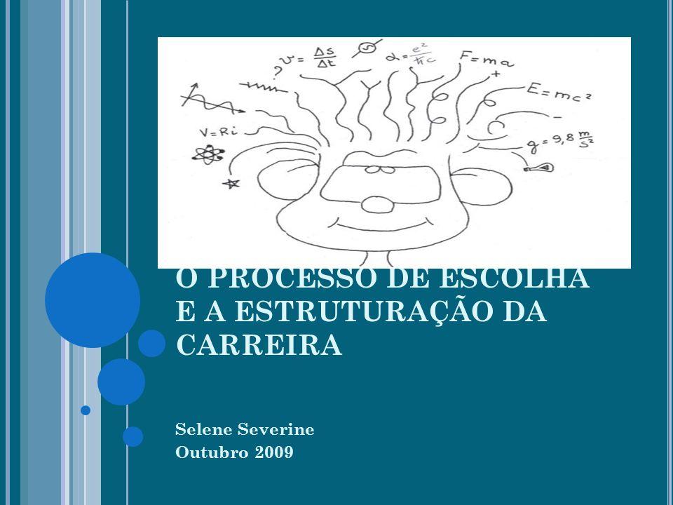 O PROCESSO DE ESCOLHA E A ESTRUTURAÇÃO DA CARREIRA Selene Severine Outubro 2009