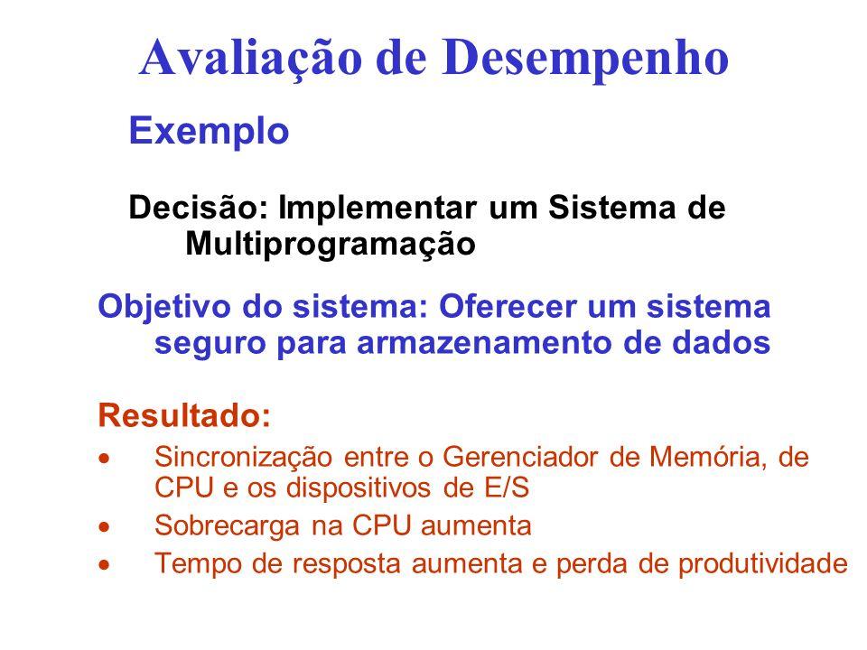 Avaliação de Desempenho Objetivo do sistema: Oferecer um sistema seguro para armazenamento de dados Resultado: Sincronização entre o Gerenciador de Me