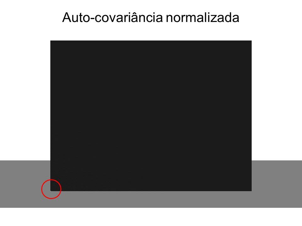 Auto-covariância normalizada