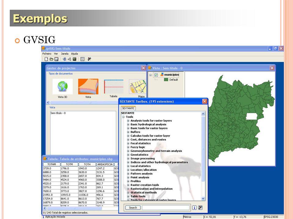 GVSIG Exemplos