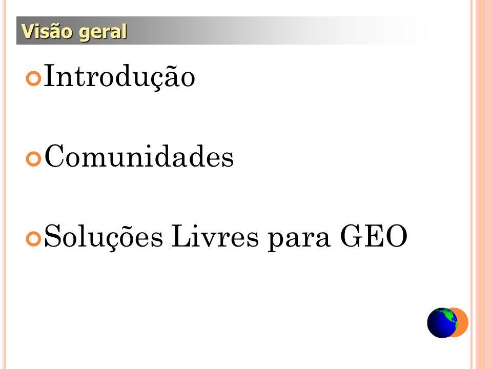 http://www.geosaber.com.br/ http://fossgisbrasil.com.br http://qgisbrasil.wordpress.com/ http://www.freegis.org/ http://maptools.org/ Comunidades e blogs interessantes