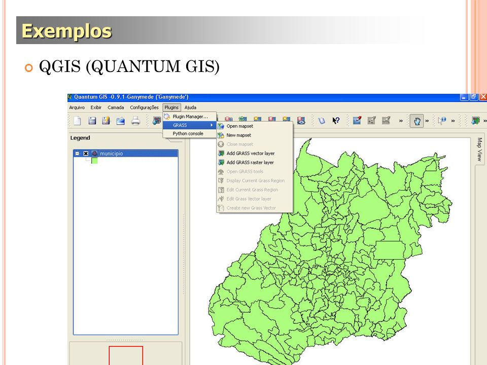 QGIS (QUANTUM GIS) Exemplos