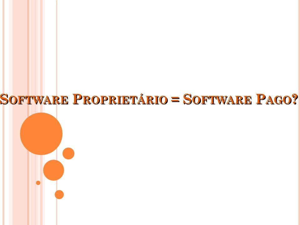 Todo software livre é gratuito, mas nem todo software gratuito é livre
