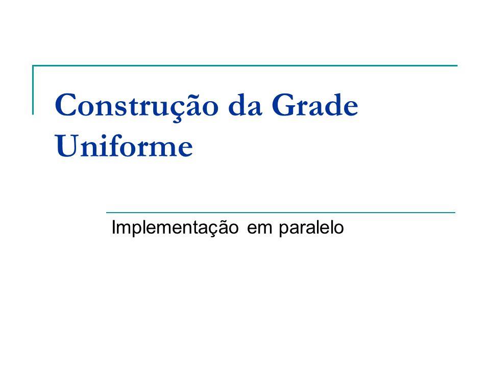 Construção da Grade Uniforme Implementação em paralelo