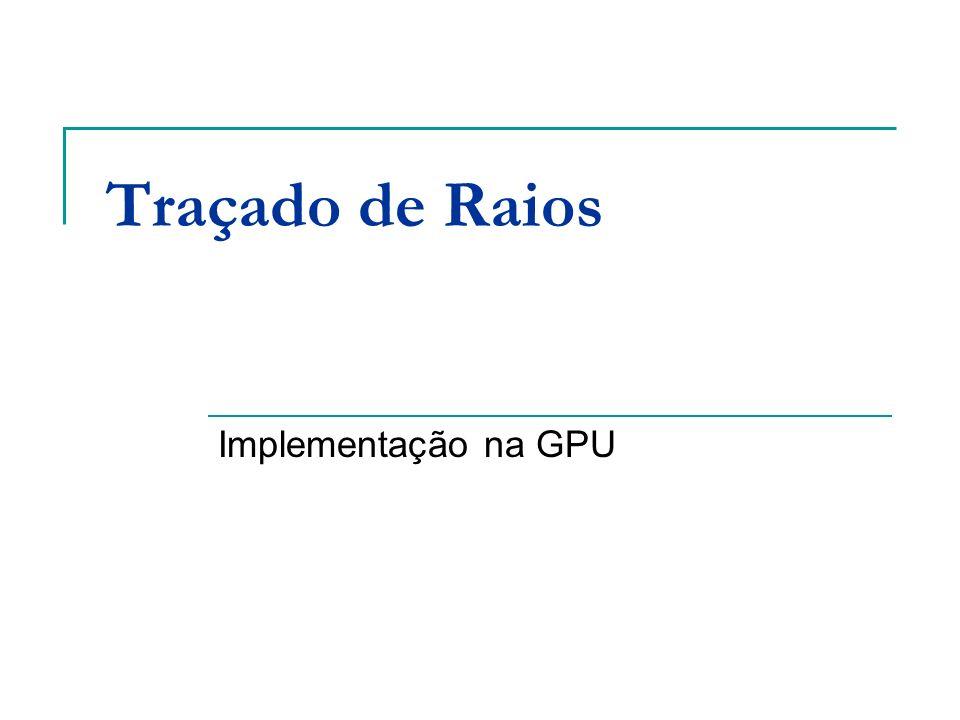Traçado de Raios Implementação na GPU