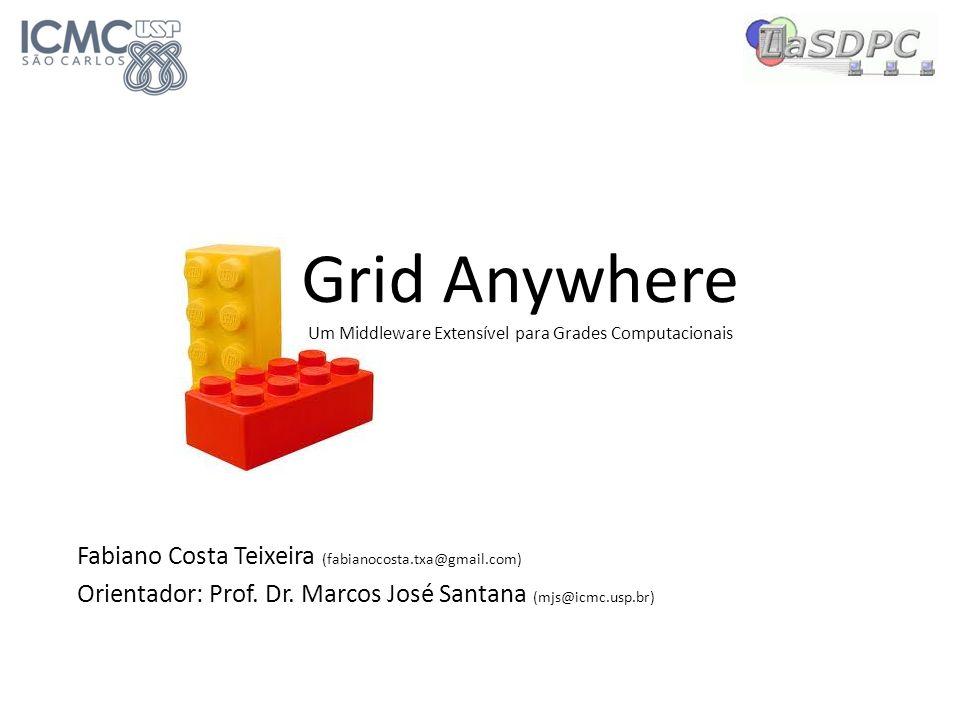 Grid Anywhere Um Middleware Extensível para Grades Computacionais Fabiano Costa Teixeira (fabianocosta.txa@gmail.com) Orientador: Prof. Dr. Marcos Jos
