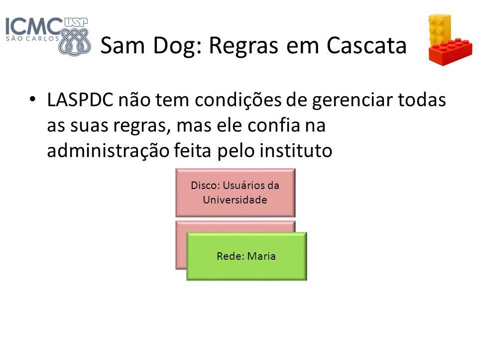 Sam Dog: Regras em Cascata LASPDC não tem condições de gerenciar todas as suas regras, mas ele confia na administração feita pelo instituto Disco: Usu