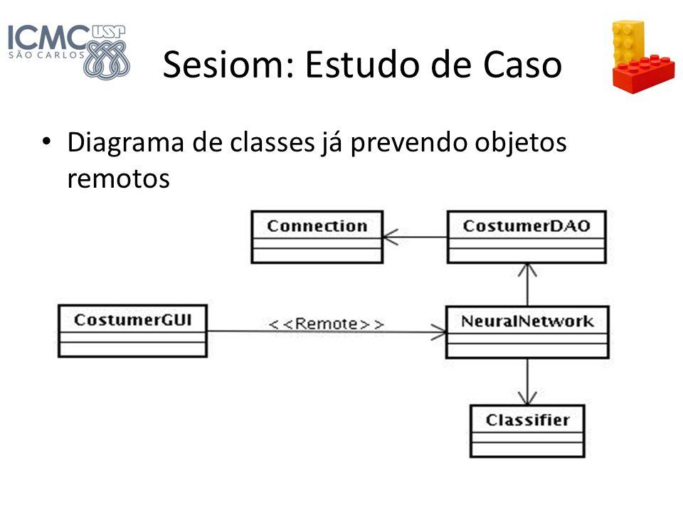 Sesiom: Estudo de Caso Diagrama de classes já prevendo objetos remotos