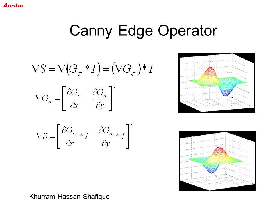 Canny Edge Operator Khurram Hassan-Shafique Arestas