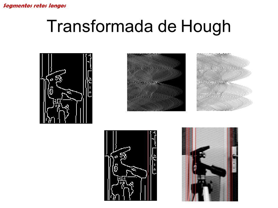Transformada de Hough Segmentos retos longos