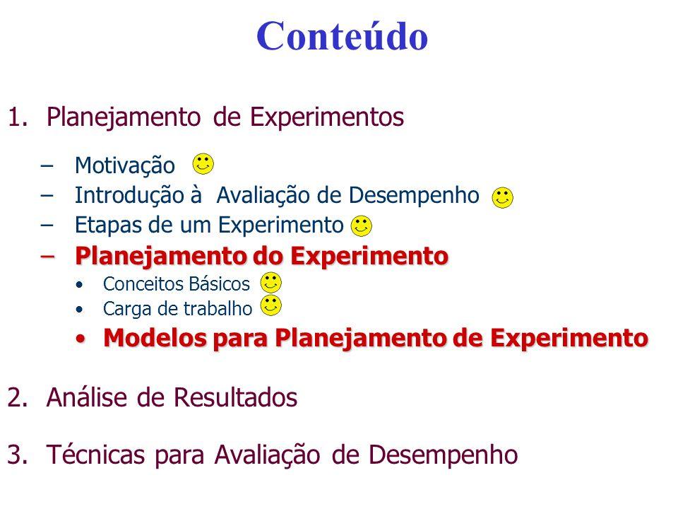 Tipos de Planejamento de Experimentos Planejamento Simples - Não recomendado – Porque.