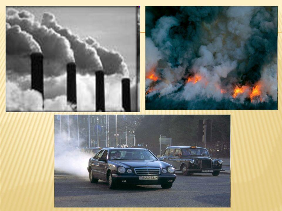 Fontes de poluição do ar Naturais As atividades humanas são responsáveis por grande parte do dano que é feito à atmosfera, no entanto muitas situações de poluição têm causas naturais.