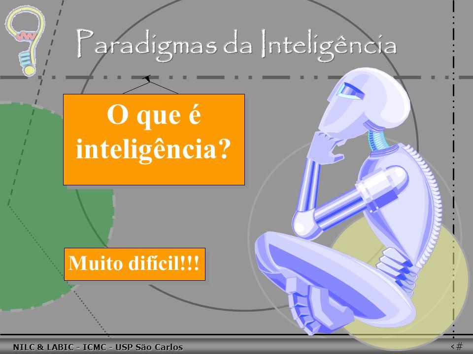 011010 101010 100100 010101 110100 101100 100101 001001 010011 010101 100111 001101 011010 101010 100100 010101 110100 101100 NILC & LABIC - ICMC - USP São Carlos 54 O que é inteligência.