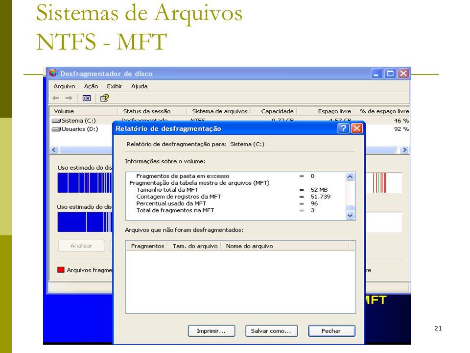 21 Sistemas de Arquivos NTFS - MFT