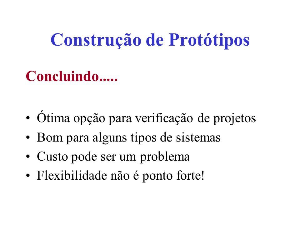 Construção de Protótipos Concluindo.....