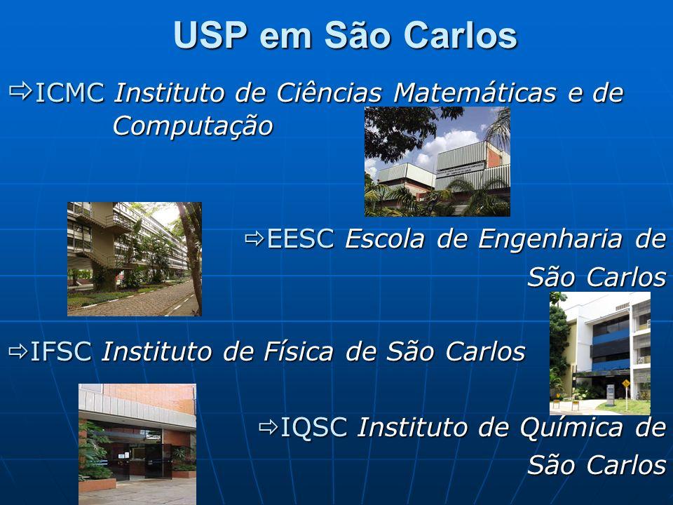 ICMC Instituto de Ciências Matemáticas e de Computação ICMC Instituto de Ciências Matemáticas e de Computação EESC Escola de Engenharia de EESC Escola