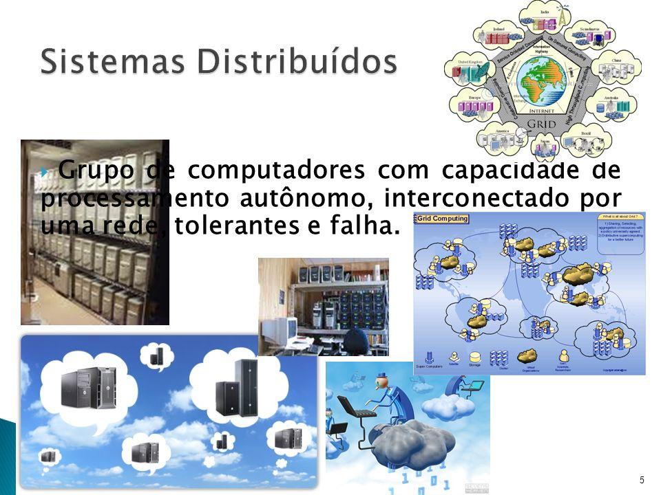 5 Grupo de computadores com capacidade de processamento autônomo, interconectado por uma rede, tolerantes e falha.