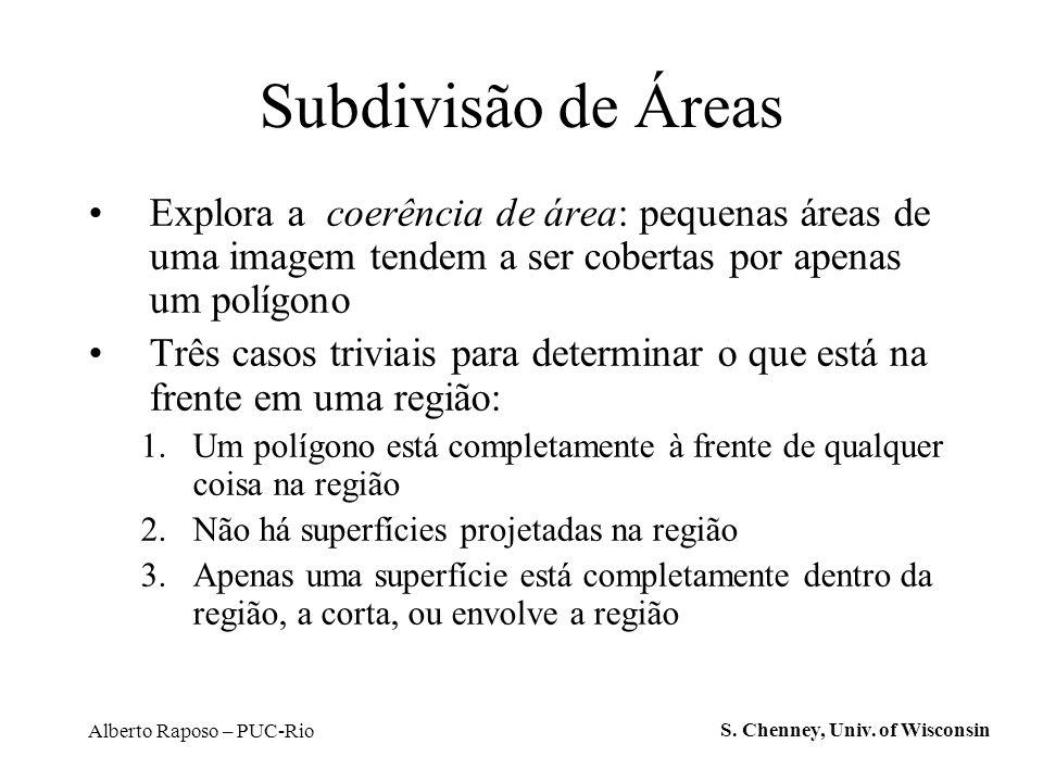 Alberto Raposo – PUC-Rio Subdivisão de Áreas Explora a coerência de área: pequenas áreas de uma imagem tendem a ser cobertas por apenas um polígono Tr