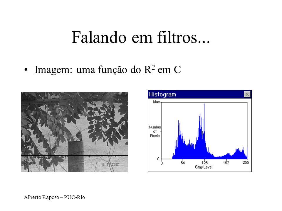 Alberto Raposo – PUC-Rio Falando em filtros... Imagem: uma função do R 2 em C