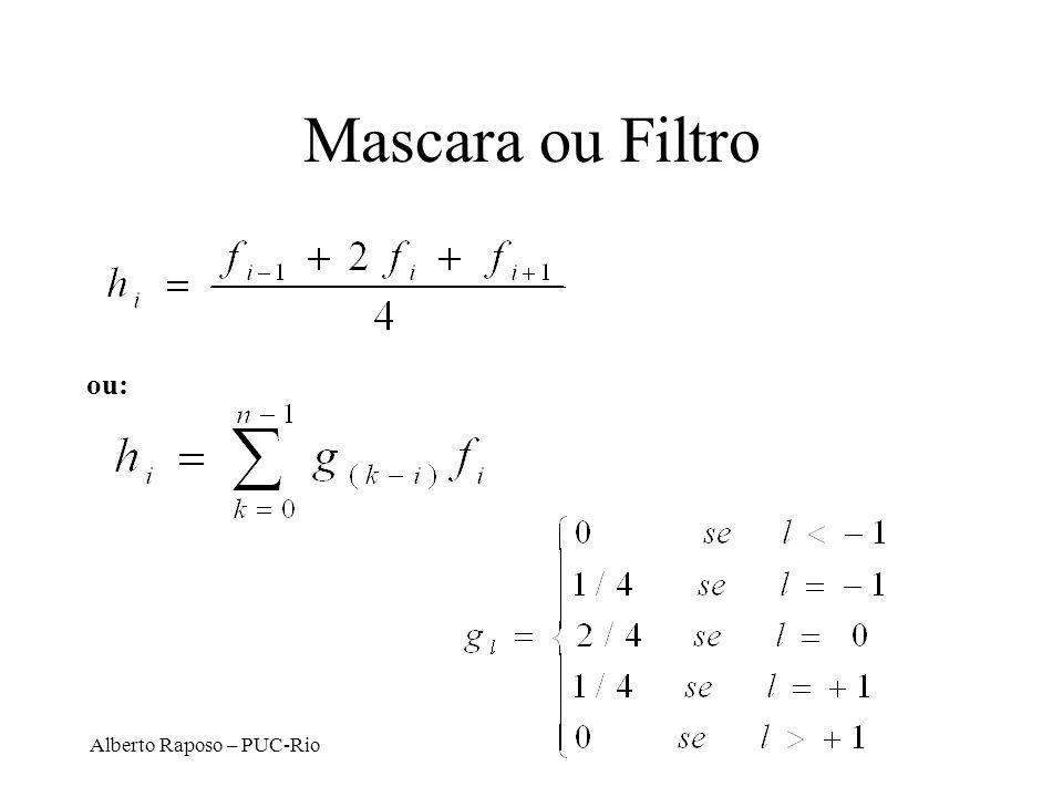 Alberto Raposo – PUC-Rio Mascara ou Filtro ou: