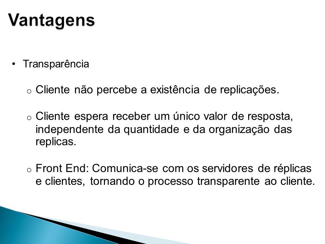 Três tipos diferentes de réplicas organizadas logicamente – Réplicas permanentes – Réplicas iniciadas por servidor – Réplicas iniciadas por cliente
