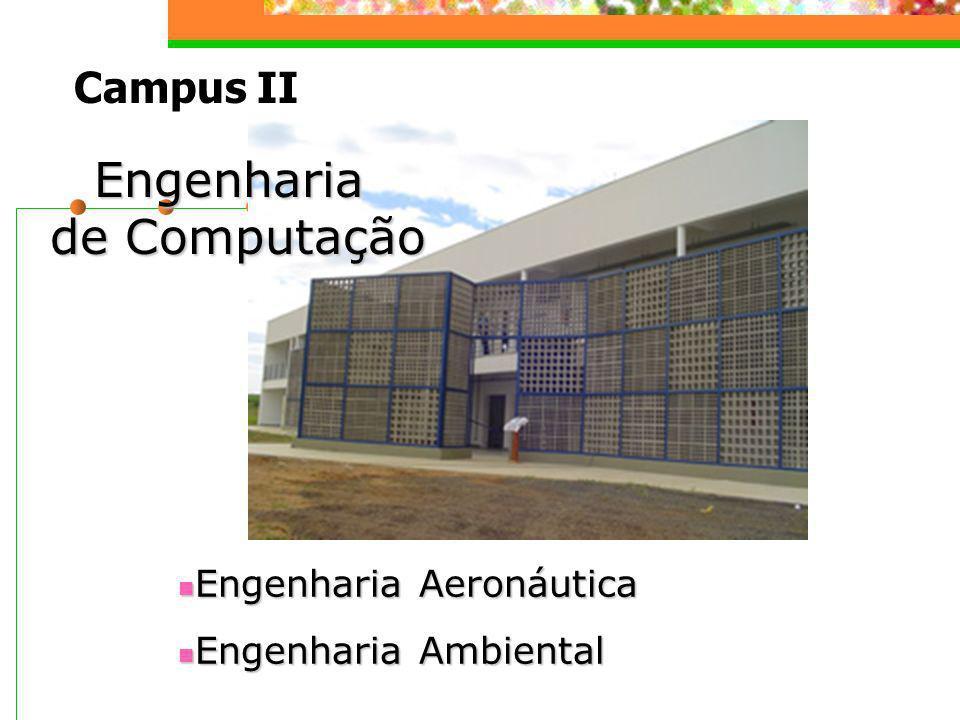 Campus II Engenharia de Computação Engenharia Aeronáutica Engenharia Aeronáutica Engenharia Ambiental Engenharia Ambiental