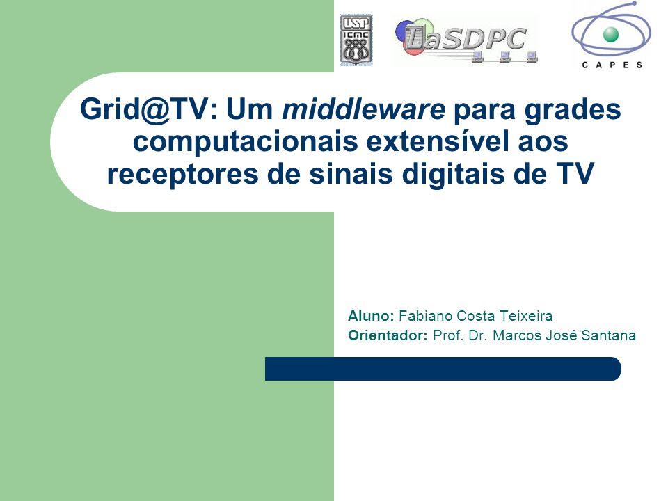 Grid@TV: Um middleware para grades computacionais extensível aos receptores de sinais digitais de TV Aluno: Fabiano Costa Teixeira Orientador: Prof. D