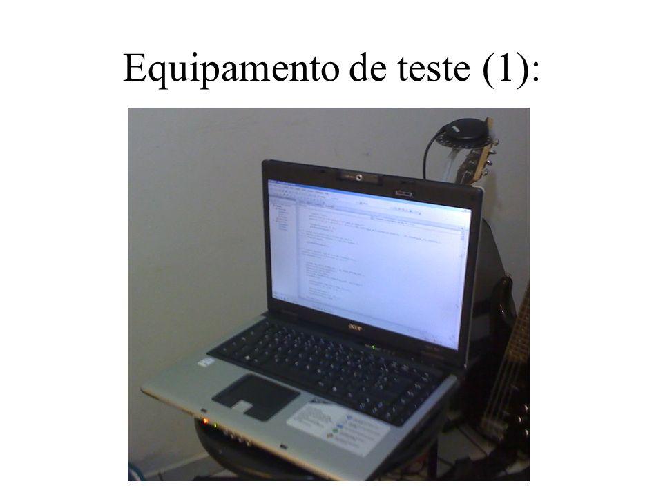 Equipamento de teste (1):