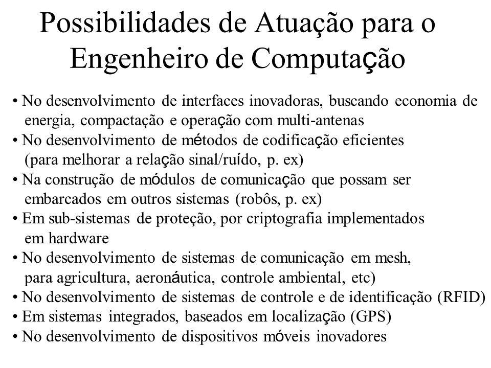Possibilidades de Atuação para o Engenheiro de Computa ç ão No desenvolvimento de interfaces inovadoras, buscando economia de energia, compactação e o