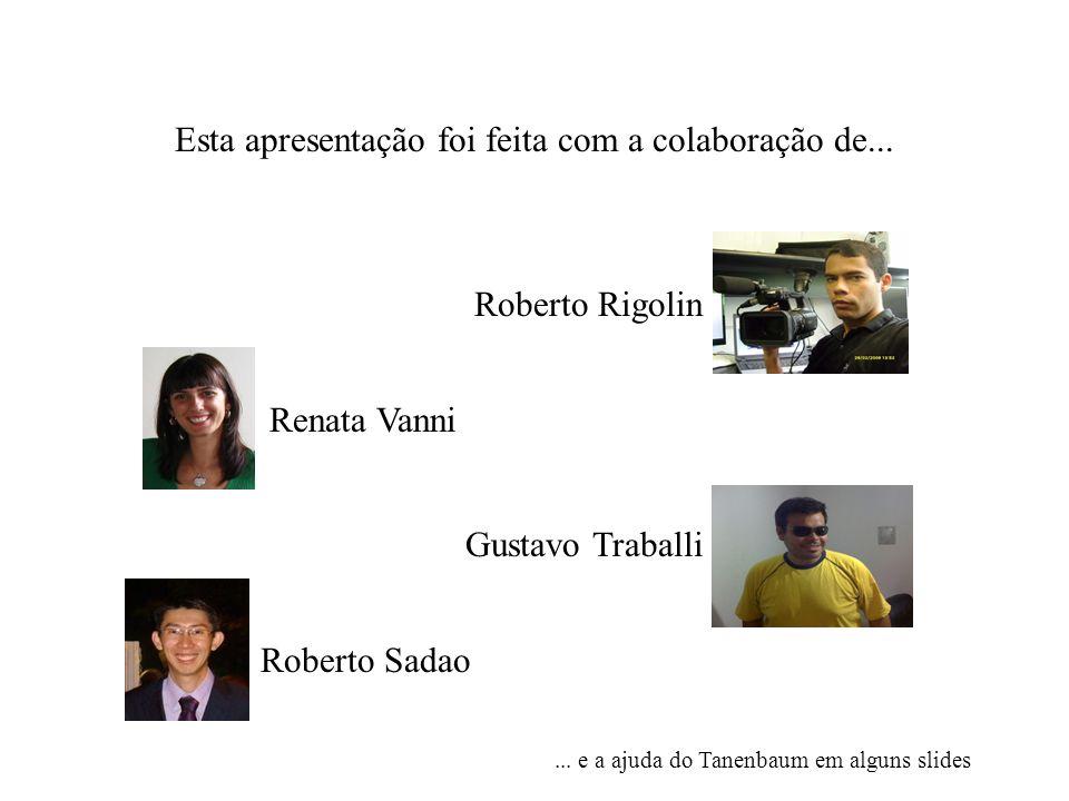 Esta apresentação foi feita com a colaboração de... Roberto Rigolin Renata Vanni Gustavo Traballi... e a ajuda do Tanenbaum em alguns slides Roberto S