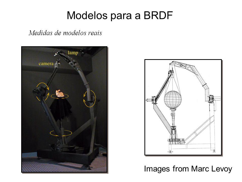 Modelos para a BRDF Images from Marc Levoy Medidas de modelos reais