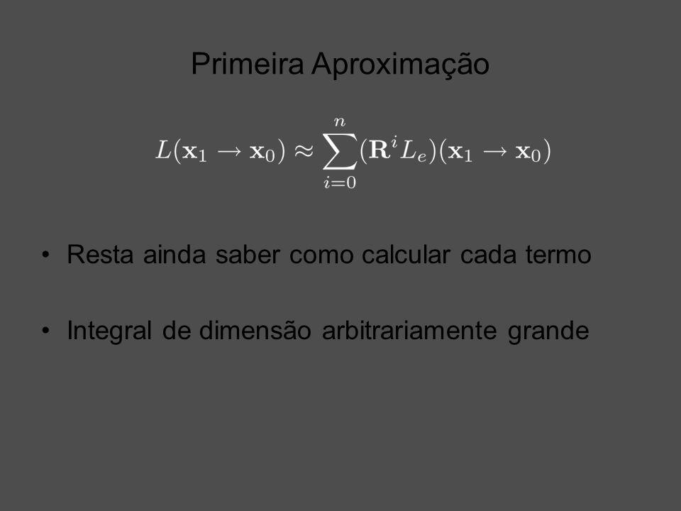 Primeira Aproximação Resta ainda saber como calcular cada termo Integral de dimensão arbitrariamente grande