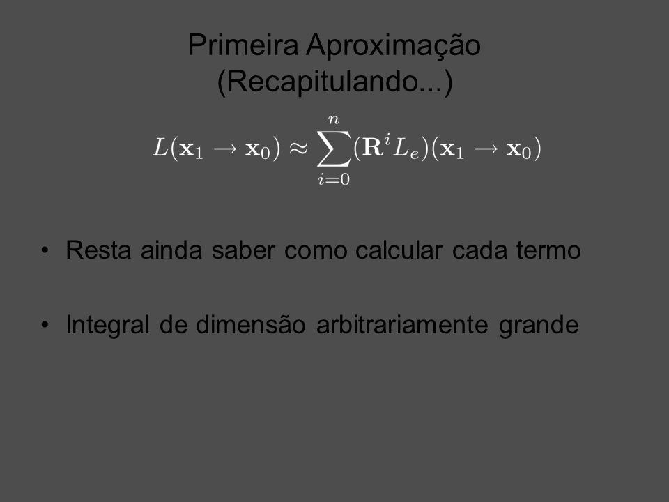 Primeira Aproximação (Recapitulando...) Resta ainda saber como calcular cada termo Integral de dimensão arbitrariamente grande