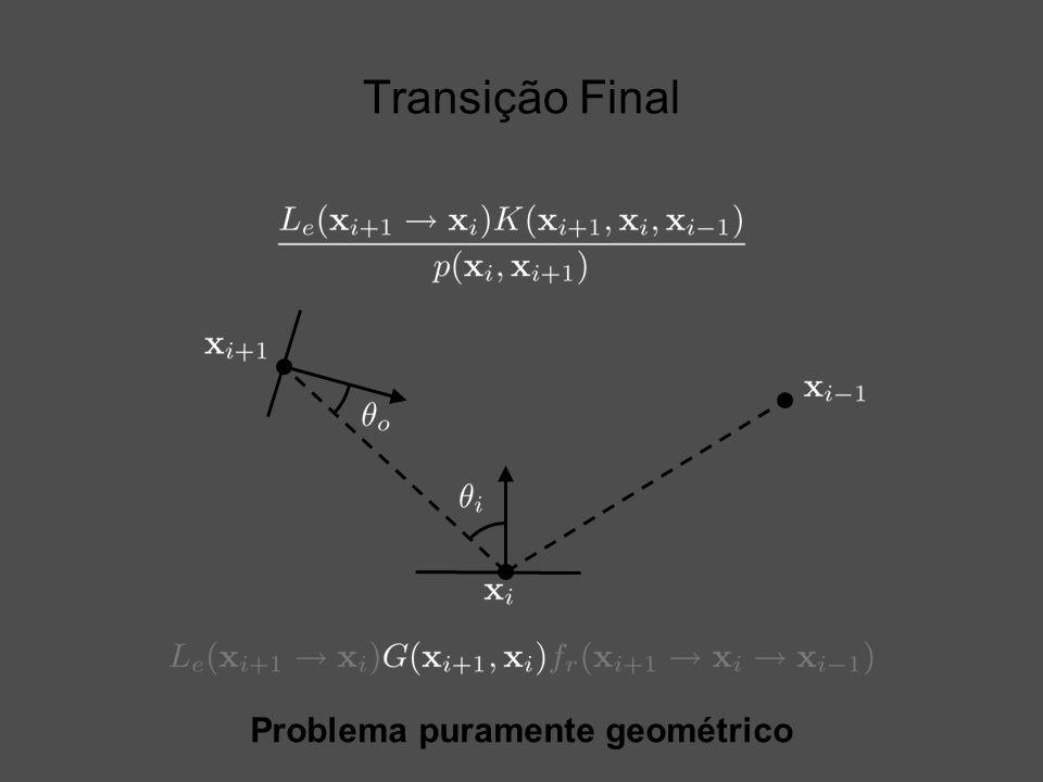 Transição Final Problema puramente geométrico