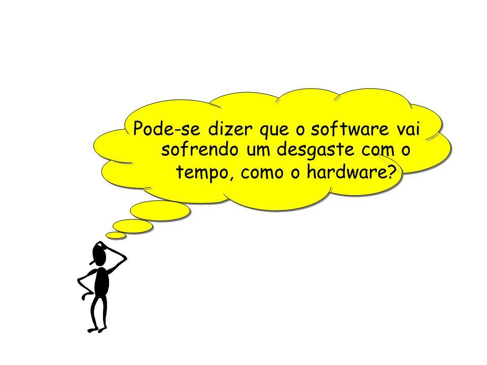 Pode-se dizer que o software vai sofrendo um desgaste com o tempo, como o hardware?