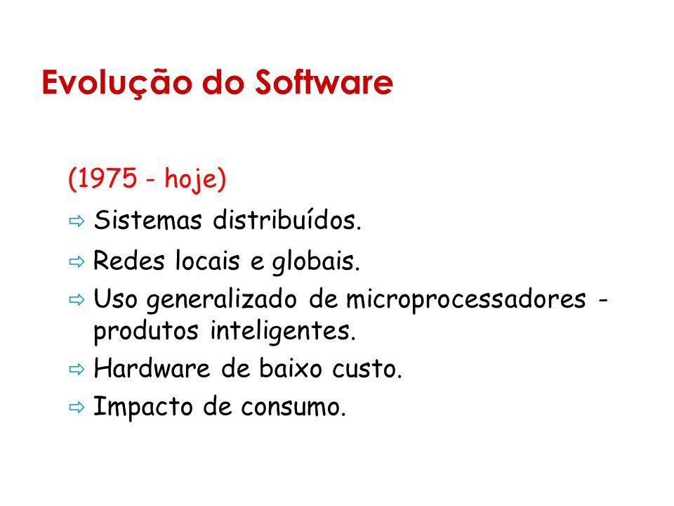 (1975 - hoje) Sistemas distribuídos.Redes locais e globais.