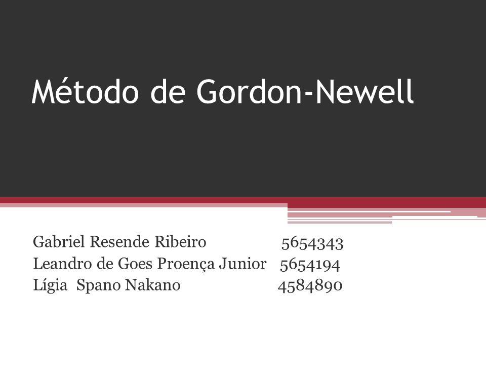 Método de Gordon-Newell Gabriel Resende Ribeiro 5654343 Leandro de Goes Proença Junior 5654194 Lígia Spano Nakano 4584890
