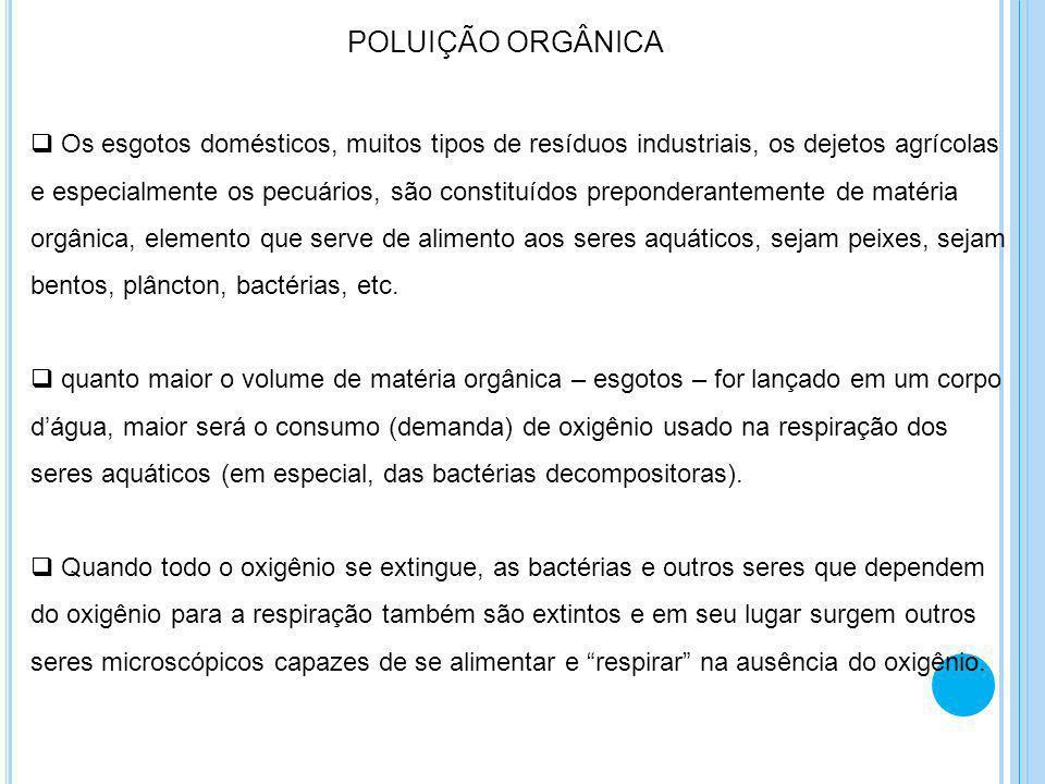 CARGA POLUIDORA A carga poluidora de um efluente gasoso ou líquido é a expressão da quantidade de poluente lançada pela fonte.